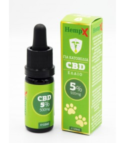 HEMPX CBD OIL 5%, 500mg Εκχύλισμα Κανναβιδιόλης